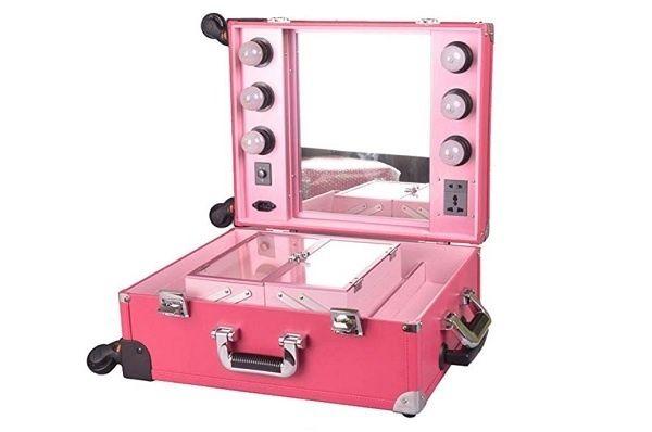 maletas de maquillaje profesional LED